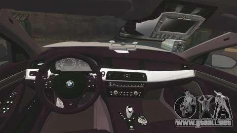BMW M5 Ambulance [ELS] para GTA 4 vista lateral