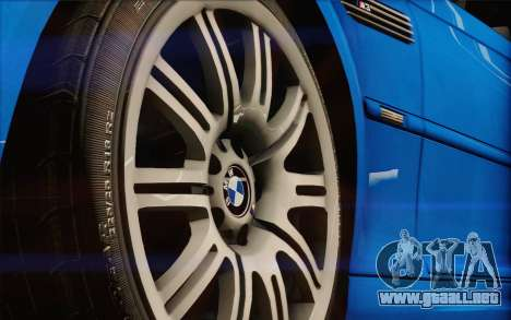 BMW M3 E46 2005 para GTA San Andreas vista hacia atrás