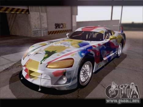 Dodge Viper Competition Coupe para vista inferior GTA San Andreas