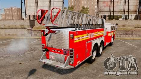 MTL Firetruck MDH1000 Midmount Ladder FDNY [ELS] para GTA 4 Vista posterior izquierda