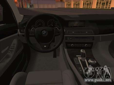 BMW M5 F11 Touring para vista inferior GTA San Andreas