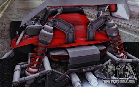 XCelerator Buggy XL para GTA San Andreas vista posterior izquierda