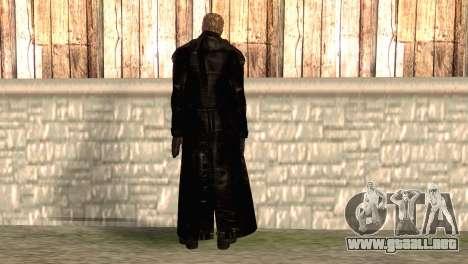 Albert Wesker en el manto para GTA San Andreas segunda pantalla