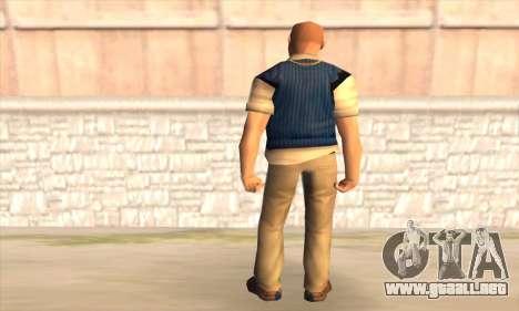 Jimmy Hopkins para GTA San Andreas segunda pantalla