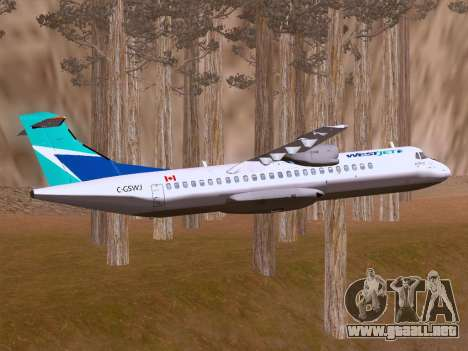 ATR 72-500 WestJet Airlines para visión interna GTA San Andreas