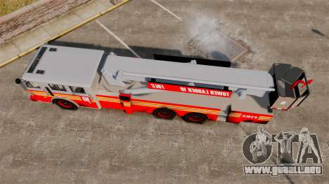 MTL Firetruck Tower Ladder [ELS-EPM] para GTA 4 visión correcta