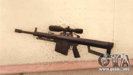 Barrett de Call of Duty MW2 para GTA San Andreas segunda pantalla