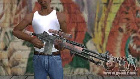 M14 EBR Red Tiger para GTA San Andreas tercera pantalla