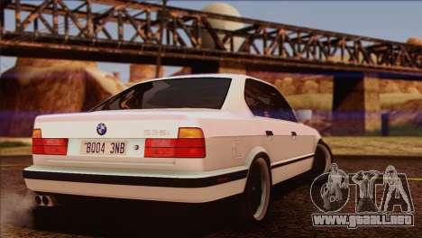 BMW 535i E34 Mafia Style para GTA San Andreas interior