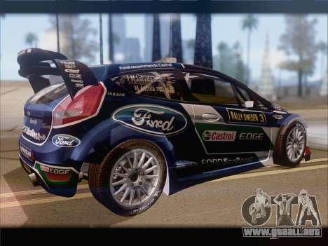 Ford Fiesta RS WRC 2013 para GTA San Andreas vista hacia atrás