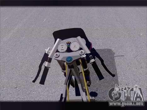 Suzuki Satria FU para GTA San Andreas vista hacia atrás