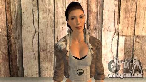 Alyx Vance de Half Life 2 para GTA San Andreas tercera pantalla