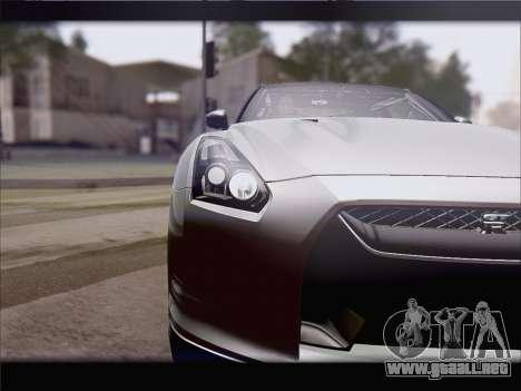 Nissan GT-R Spec V Stance para GTA San Andreas vista posterior izquierda