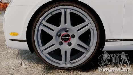 Bentley Continental SS v3.0 para GTA 4 vista hacia atrás