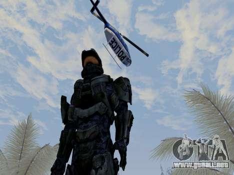 Master Chief para GTA San Andreas sucesivamente de pantalla