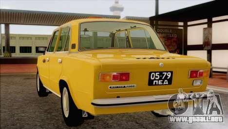 VAZ 21011 de Taxi para vista inferior GTA San Andreas
