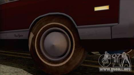 Chrysler New Yorker 4 Door Hardtop 1971 para vista lateral GTA San Andreas