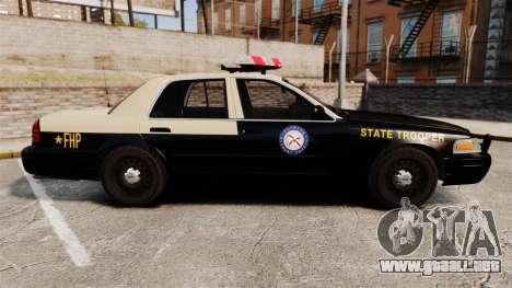 Ford Crown Victoria 1999 Florida Highway Patrol para GTA 4 left