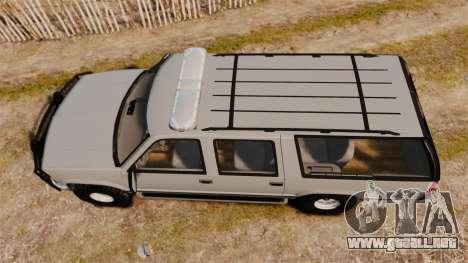 Chevrolet Suburban 1999 Police [ELS] para GTA 4 visión correcta