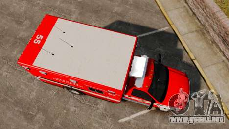 Ford E-350 LAFD Ambulance [ELS] para GTA 4 visión correcta