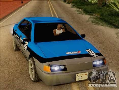 Stratum Sedan Sport para visión interna GTA San Andreas