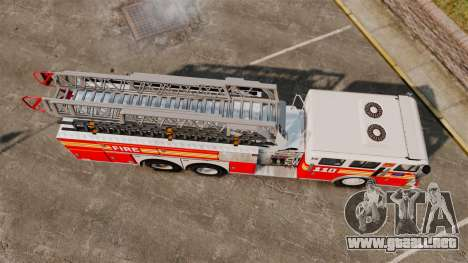 MTL Firetruck MDH1000 Midmount Ladder FDNY [ELS] para GTA 4 visión correcta