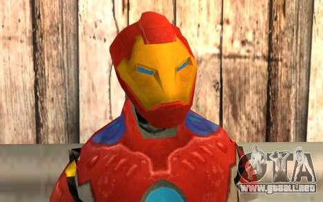 Iron Man para GTA San Andreas tercera pantalla