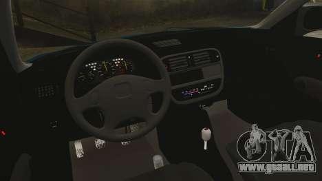 Honda Civic EK para GTA 4 vista interior