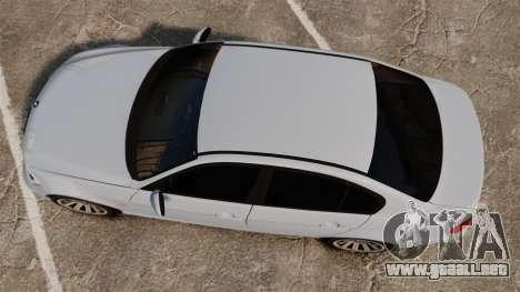 BMW 330i Unmarked Police [ELS] para GTA 4 visión correcta