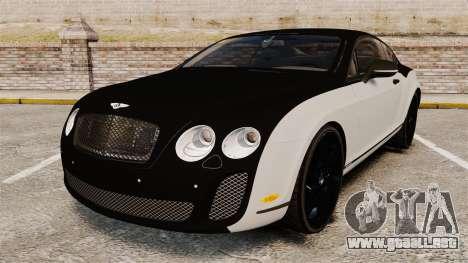 Bentley Continental SS v3.0 para GTA 4