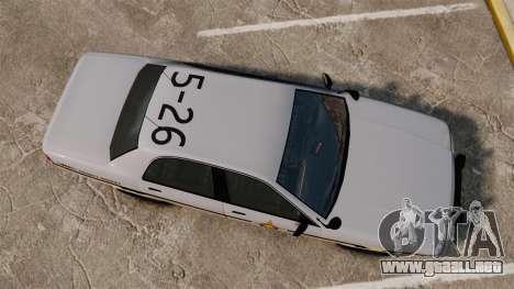GTA V Vapid Police Cruiser Scheriff [ELS] para GTA 4 visión correcta