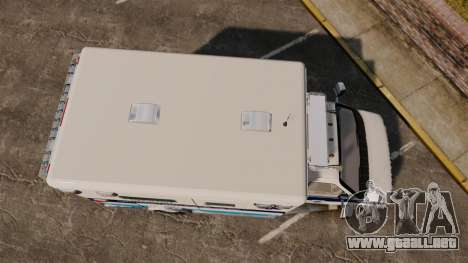 Ford E-350 Liberty Ambulance [ELS] para GTA 4 visión correcta