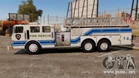 MTL Firetruck MDH1000 Midmount Ladder [ELS] para GTA 4 left