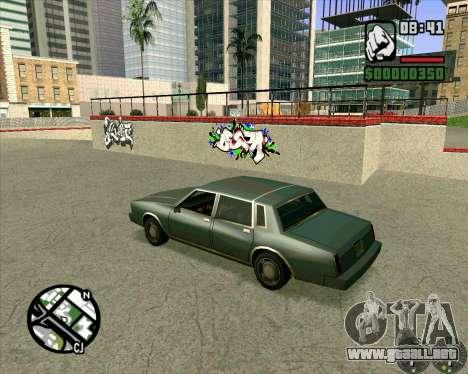 Nuevo HD Skate Park para GTA San Andreas sucesivamente de pantalla