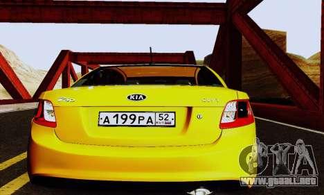 Kia Rio II 2009 para visión interna GTA San Andreas