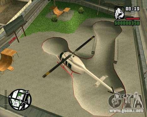 Nuevo HD Skate Park para GTA San Andreas tercera pantalla