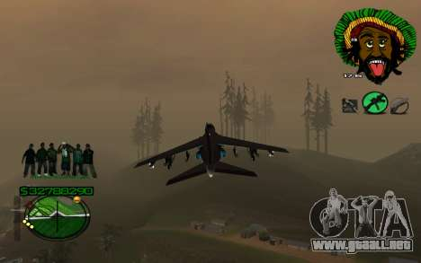 Con 4Life surco-HUD St para GTA San Andreas segunda pantalla