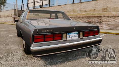 Chevrolet Caprice 1989 v2.0 para GTA 4 Vista posterior izquierda