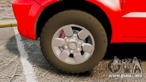 Toyota Hilux French Red Cross [ELS] para GTA 4 vista hacia atrás