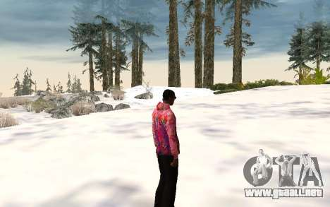 Chaqueta de Sochi 2014 para GTA San Andreas tercera pantalla
