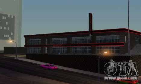 Nuevo showroom en cabello para GTA San Andreas sucesivamente de pantalla