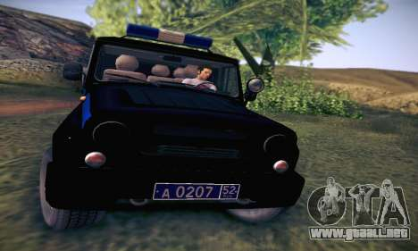Policía UAZ Hunter para visión interna GTA San Andreas