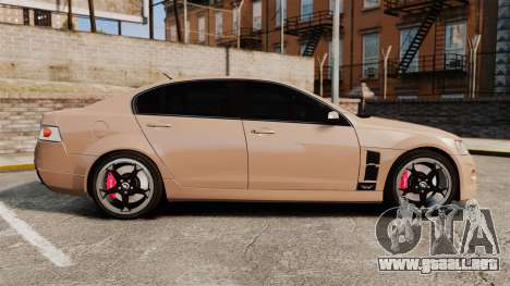 Holden HSV W427 2009 para GTA 4 left