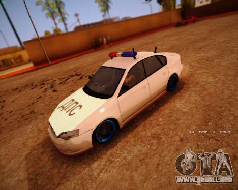 Subaru Legacy para GTA San Andreas left