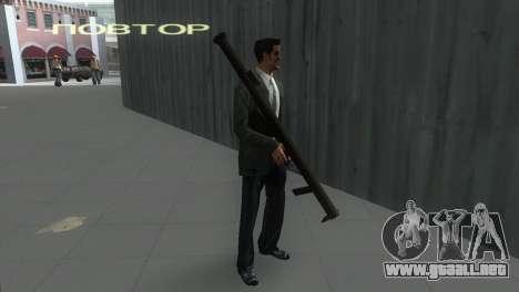 Bazuca de MoH: AA para GTA Vice City segunda pantalla