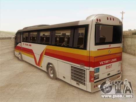 Higer KLQ6129QE - Victory Liner 8107 para GTA San Andreas left
