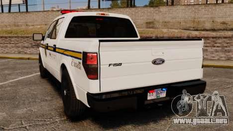 Ford F-150 2012 CEPS [ELS] para GTA 4 Vista posterior izquierda