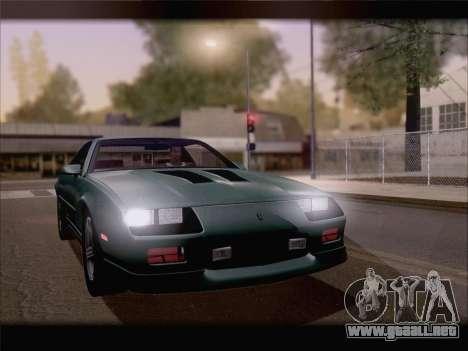 Chevrolet Camaro IROC-Z 1990 para la vista superior GTA San Andreas