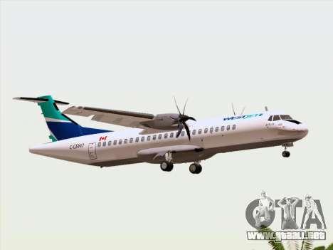 ATR 72-500 WestJet Airlines para la vista superior GTA San Andreas