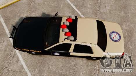 Ford Crown Victoria 1999 Florida Highway Patrol para GTA 4 visión correcta